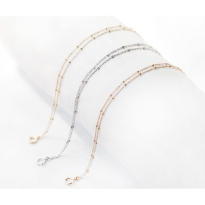 Bracelet or rose 18 ct - 2 rangs cubes