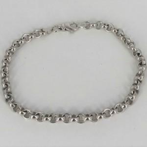 Bracelet maillons jaseron or blanc - Bijou Vintage - Couverture