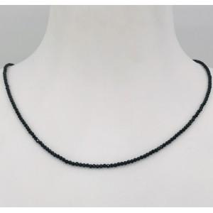 Stone Collection collier Spinelle noire - Création Mathieu