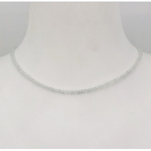 Stone Collection collier Cristal de roche - Création Mathieu