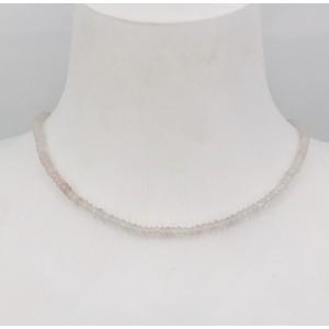Stone Collection collier Quartz Rose - Création Mathieu