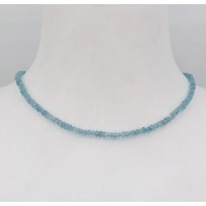 Stone Collection collier Aigue Marine - Création Mathieu