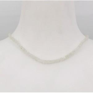 Stone Collection collier Labradorite blanche - Création Mathieu