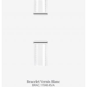 Bracelet de montre Antarès - Blanc vernis