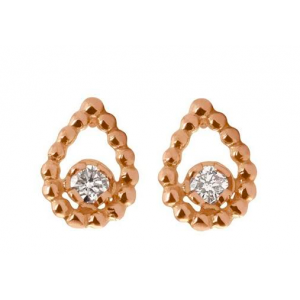 Boucles d'oreilles or rose Gigi Clozeau Lucky lotus diamants