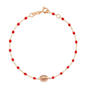 Bracelet Gigi Clozeau Madone résine rouge coquelicot