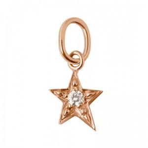 Pendentif Gigi Clozeau étoile diamants or rose blanc ou jaune