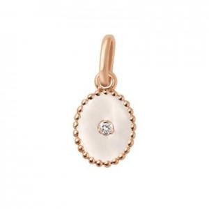 Pendentif Gigi Clozeau étoile du Nord or rose diamant résine blanche