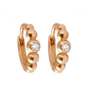 Boucles d'oreilles Lucky créole Gigi Clozeau - Or rose brillant