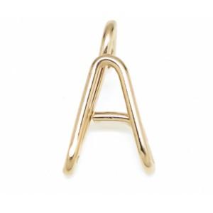 "Léo Collection pendentif or jaune ""A"""
