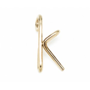 "Léo Collection pendentif or blanc ou jaune ou rose ""K"""