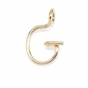 """Léo Collection pendentif or blanc ou jaune ou rose """"G"""""""