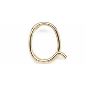 "Léo Collection pendentif or blanc ou jaune ou rose ""Q"""