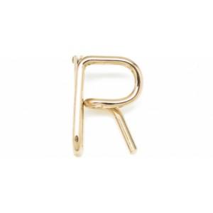 "Léo Collection pendentif or blanc ou jaune ou rose ""R"""