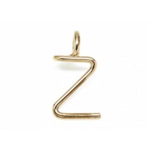 "Léo Collection pendentif or blanc ou jaune ou rose ""Z"""