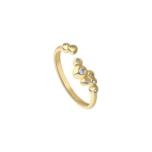 Bague or jaune et diamants Garden Party - Ivresse