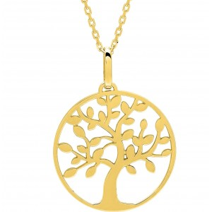 Collier Arbre de vie or jaune 18 ct