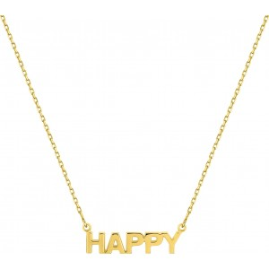 Collier HAPPY or jaune 18 ct