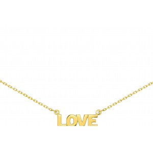 Collier LOVE or jaune 18 ct