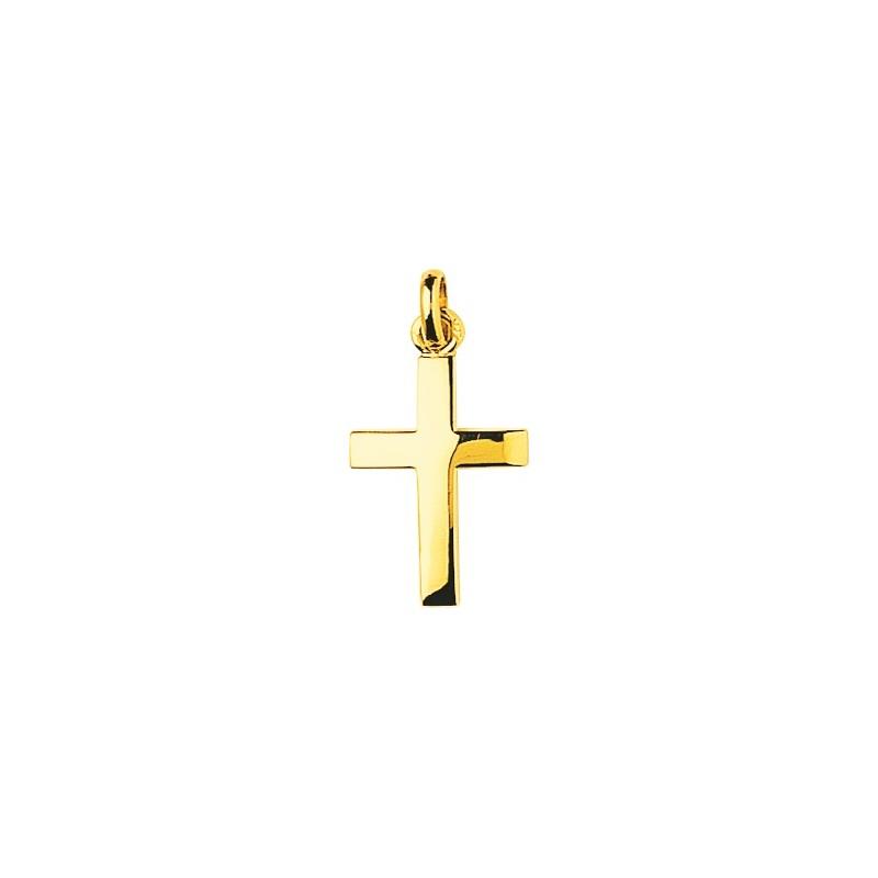 Pendentif croix or jaune 18 ct