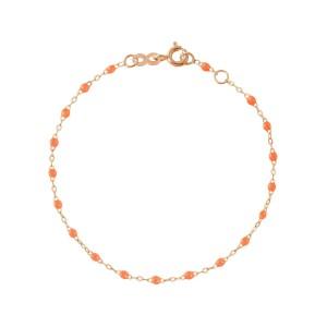 Chaîne cheville Gigi Clozeau - Or rose résine orange fluo