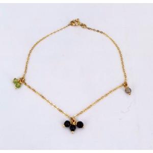 Bracelet collection Mistinguette or jaune pierres fines