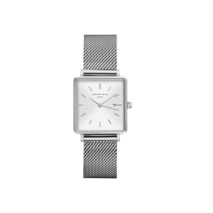 Montre Rosefield - The Boxy Blanc Sunray - Argent - QWSS-Q02