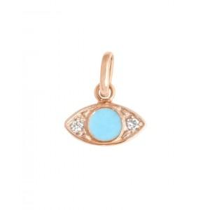 Pendentif Gigi Clozeau Œil or rose diamants