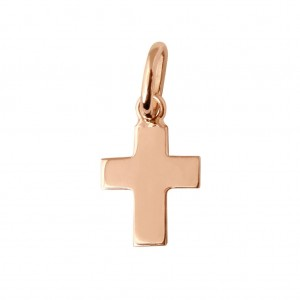 Pendentif Gigi Clozeau croix or rose blanc jaune