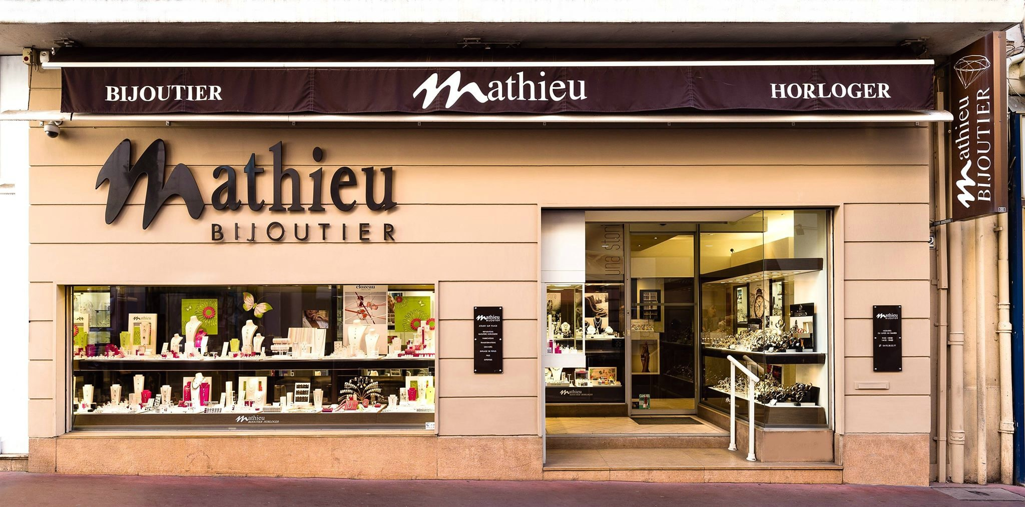 Boutique Mathieu Bijoutier à Cannes